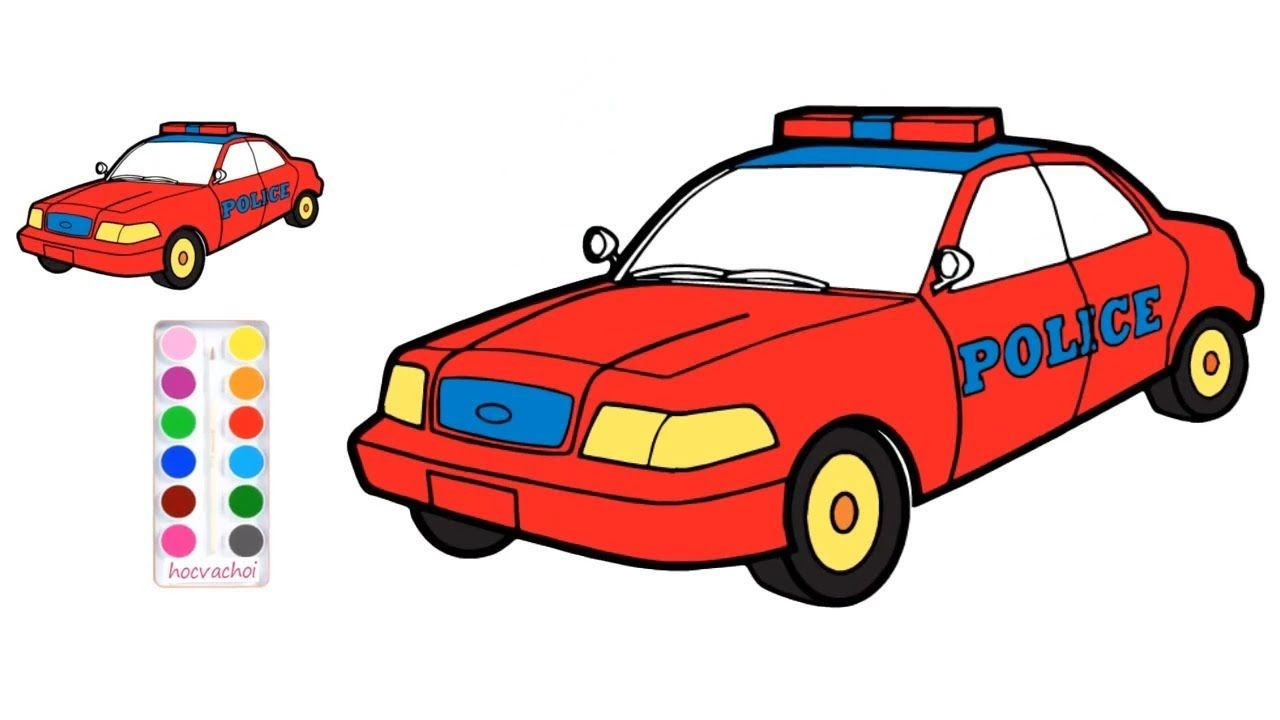 Pocice car is the car coloring game for kids