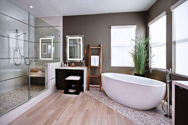Đoán tính cách gia chủ qua cách sắp xếp đồ dùng phòng tắm
