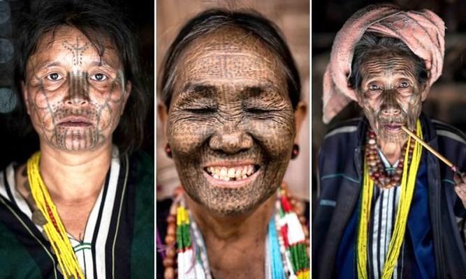 Bộ tộc kỳ lạ, phụ nữ phải xăm kín mặt để không bị bắt cóc, ép cưới