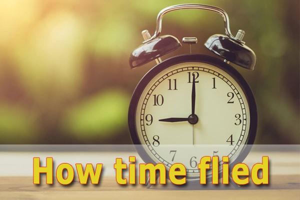 Thời gian trôi nhanh bằng tiếng Anh - Thời gian trôi qua tiếng Anh