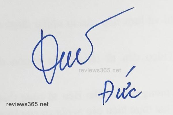 Mẫu chữ ký đẹp - chữ ký phong thủy - hướng dẫn ký tên bay bổng - chữ ký Đức