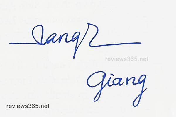 Mẫu chữ ký đẹp - chữ ký phong thủy - hướng dẫn ký tên bay bổng - chữ ký Giang