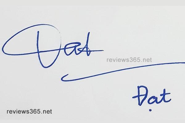 Mẫu chữ ký đẹp - chữ ký phong thủy - hướng dẫn ký tên bay bổng - chữ ký Đạt