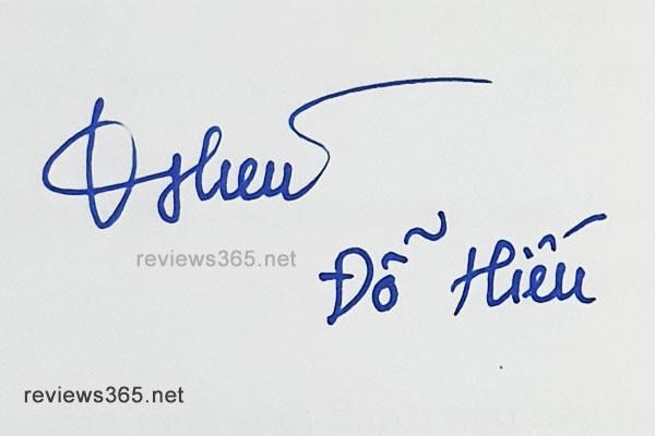 Mẫu chữ ký đẹp - chữ ký phong thủy - hướng dẫn ký tên bay bổng - chữ ký Đỗ Hiếu