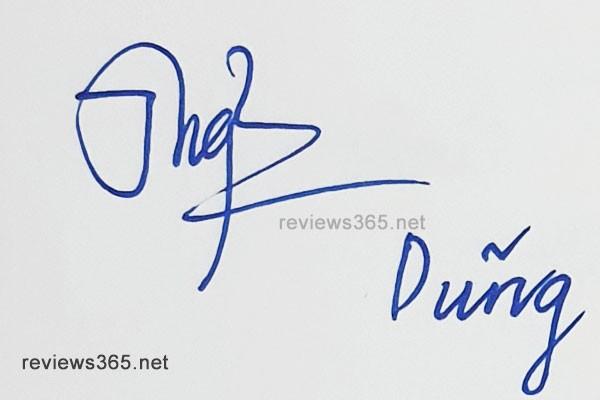 Mẫu chữ ký đẹp - chữ ký phong thủy - hướng dẫn ký tên bay bổng - Chữ ký Dũng