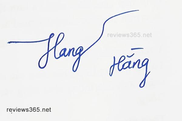 Mẫu chữ ký đẹp - chữ ký phong thủy - hướng dẫn ký tên bay bổng - chữ ký Hằng