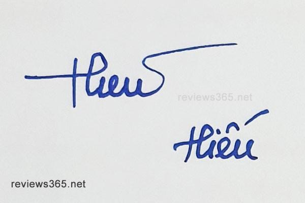 Mẫu chữ ký đẹp - chữ ký phong thủy - hướng dẫn ký tên bay bổng