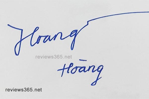 Mẫu chữ ký đẹp - chữ ký phong thủy - hướng dẫn ký tên bay bổng - chữ ký Hoàng