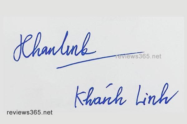 Mẫu chữ ký đẹp - chữ ký phong thủy - hướng dẫn ký tên bay bổng - chữ ký Khánh Linh