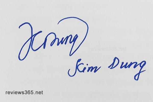 Mẫu chữ ký đẹp - chữ ký phong thủy - hướng dẫn ký tên bay bổng - chữ ký Kim Dung