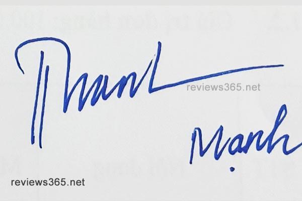 Mẫu chữ ký đẹp - chữ ký phong thủy - hướng dẫn ký tên bay bổng - chữ ký Mạnh - chữ ký tên Mạnh