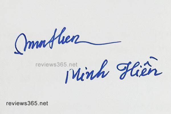 Mẫu chữ ký đẹp - chữ ký phong thủy - hướng dẫn ký tên bay bổng - chữ ký minh hiền