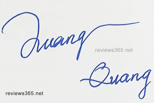 Mẫu chữ ký đẹp - chữ ký phong thủy - hướng dẫn ký tên bay bổng - chữ ký Quang