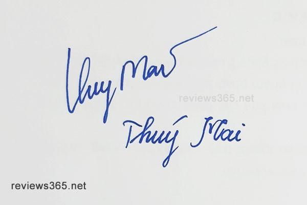 Mẫu chữ ký đẹp - chữ ký phong thủy - hướng dẫn ký tên bay bổng - Chữ ký Thúy Mai - Chữ ký tên Mai