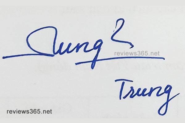 Mẫu chữ ký đẹp - chữ ký phong thủy - hướng dẫn ký tên bay bổng - chữ ký Trung