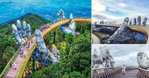 Cầu Vàng – biểu tượng của thành phố du lịch Đã Nẵng