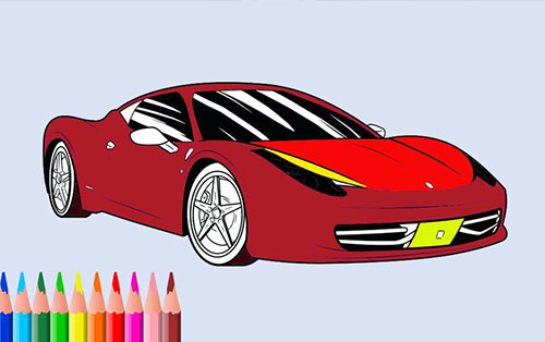 The best car coloring books for you - Free car coloring game